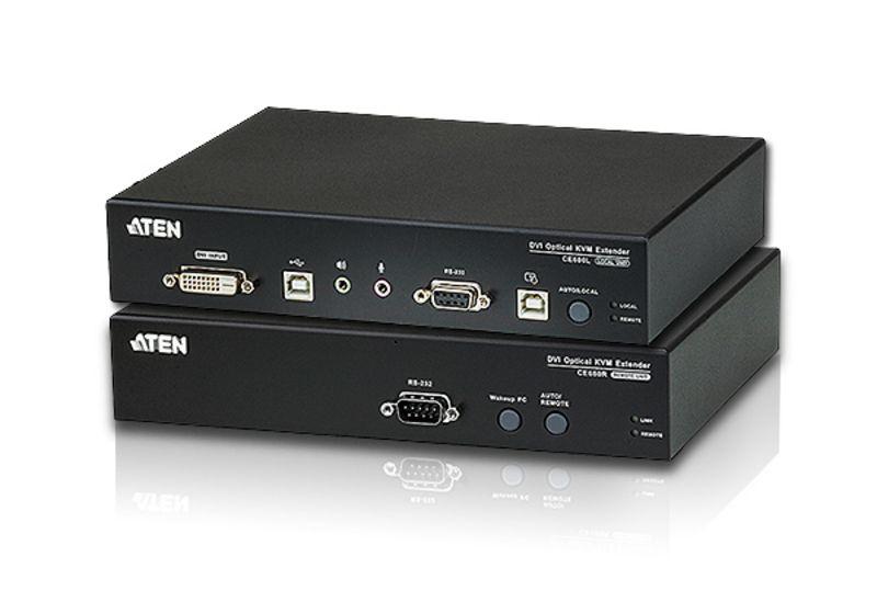 CE690 Extensor óptico KVM USB DVI (1920 x 1200 a 20km)