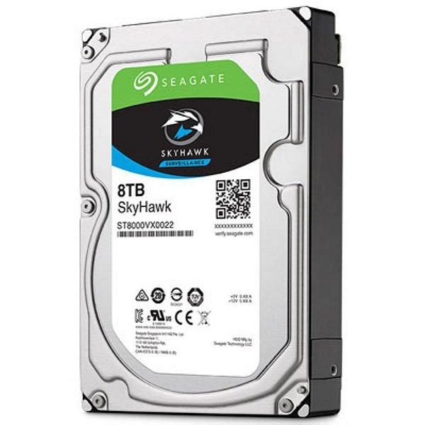 """ST8000VX0022 - HD Vigilância Seagate SKYHAWK 8TB 3,5"""" SATA 6GB/S"""