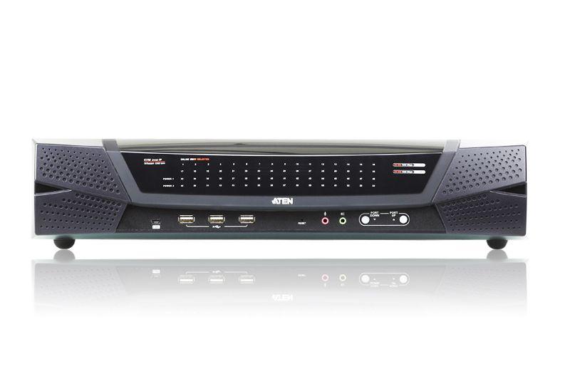 KN4164V Comutador 1 local / 4 remoto de 64 portas Cat 5 KVM sobre IP com mídia virtual (1920 x 1200)