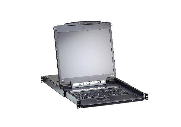 CL5708I Comutador KVM sobre IP VGA PS / 2-USB PS / 2-USB de 8 portas com porta de ligação em cadeia e suporte periférico USB