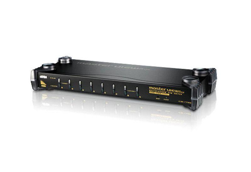 CS1758 Comutador KVM PS / 2-USB VGA / Áudio de 8 portas