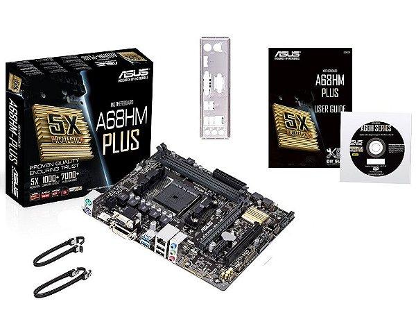 90MB0L40-M0EAY0 Placa-Mãe Asus (A68HM-PLUS) AMD FM2+ DDR3 Micro ATX