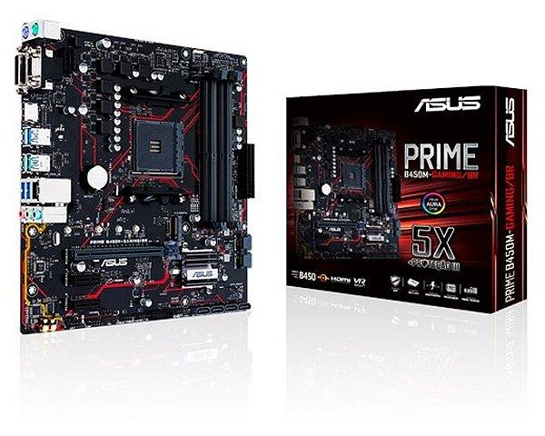 90MB10H0-C1BAY0 Placa-Mãe Asus Gaming (PRIME B450M-GAMING) AMD AM4 DDR4 mATX