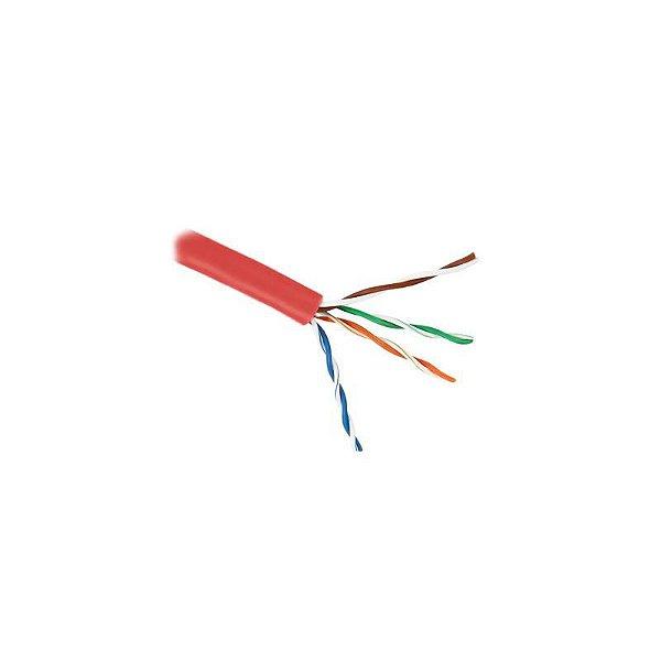23200106 - Cabo Elet. Multilan Flex U/UTP 24AWG(7F)X4P CAT.5E Vermelho Furukawa