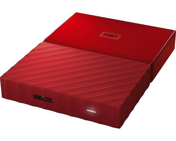WDBYFT0040BRD-WESN - HD Externo Western Digital 4TB USB 3.0 Vermelho