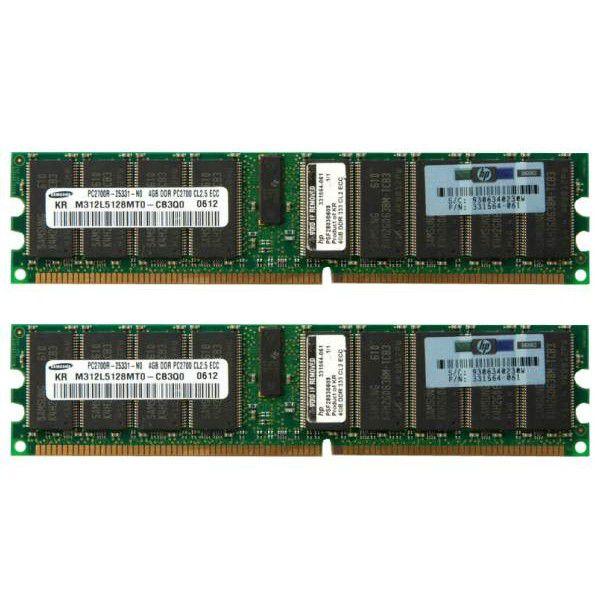 395409-B21 Memória Servidor HP Kit SDRAM PC2700 de 8 GB (2x4 GB)