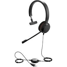 Jabra Headset Evolve 20 Monoauricular MS (USB), 4993-823-109