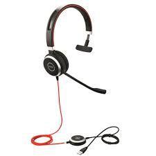 Jabra Headset Evolve 40 MS Monoauricular (USB, 3.5mm), 6393-823-109
