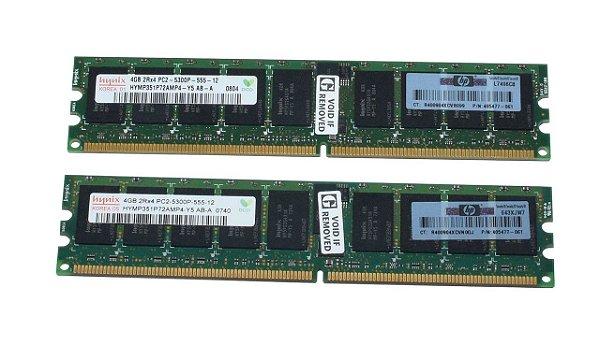 484062-B21 Kit Memória Servidor SDRAM PC2-6400 HP de 8GB (2x4 GB)