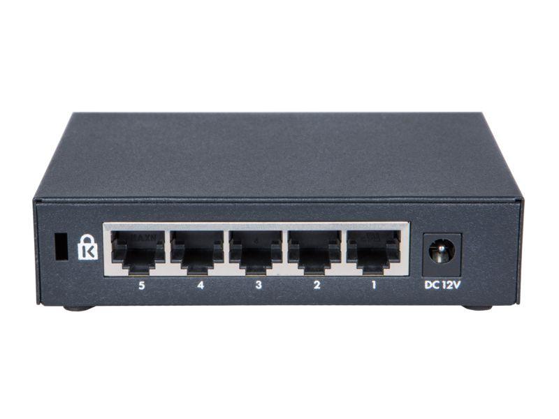 Switch 1420 Não Gerenciável 5G com 5 portas 10/100/1000 BASE-T RJ-45 - HPE / JH327A