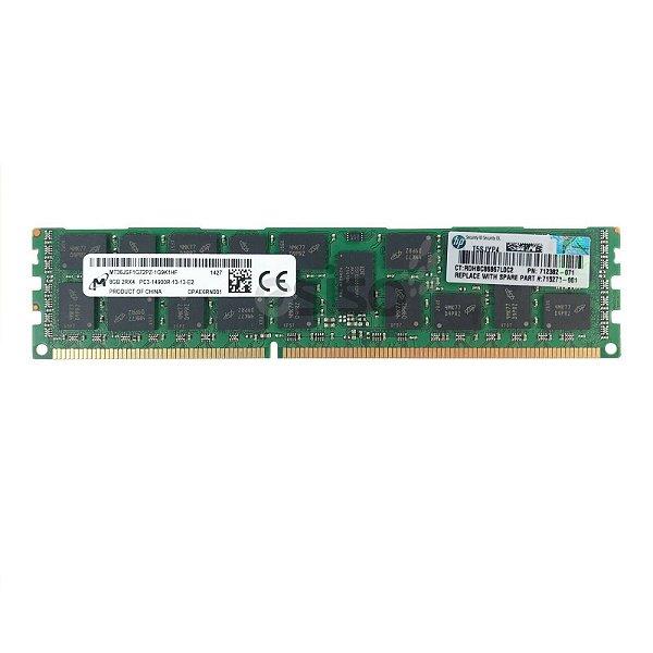 708640-B21 Memória Servidor HP 8GB PC3-14900R Kit de memória