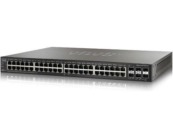 Switch Cisco SG250X-48 Gigabit Smart 48 Portas 10/100/1000Mbps / SG250X-48-K9-BR
