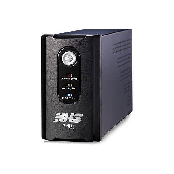 91.B0.014100 Nobreak NHS Compact Senoidal Max 1400VA E.BIVOLT S.120V Bat 2x9AH C/USB 8 Tomadas
