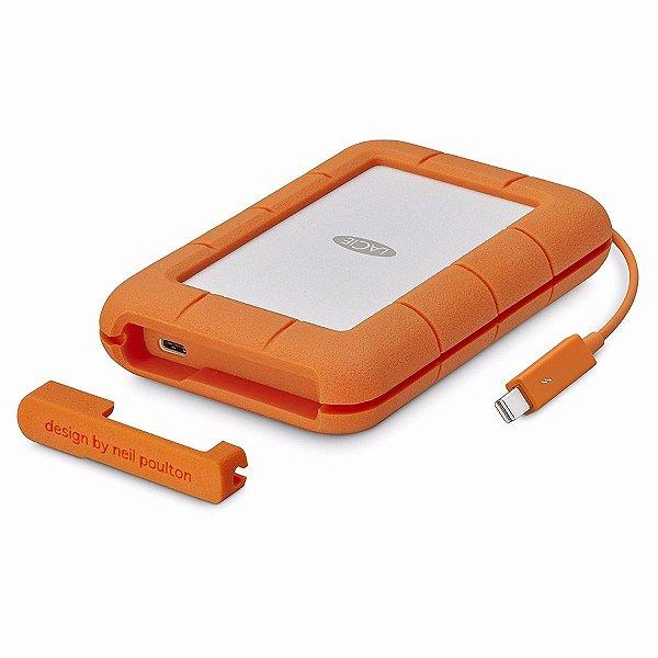 STFS2000800 HD Externo Portátil LaCie Rugged 2TB USB-C e Thunderbolt