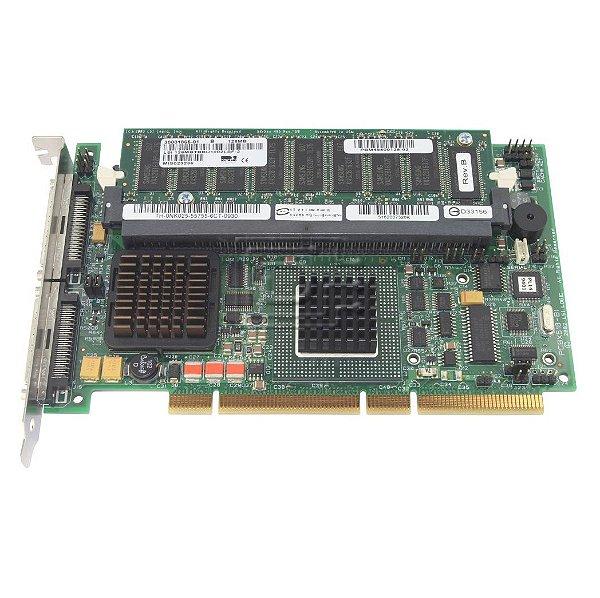 1U294 Placa Controladora Dell PERC 4 / DC de 128MB SCSI PCI-X RAID