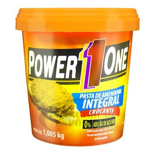 Pasta de Amendoim Integral Crocante (1kg) - Power1one
