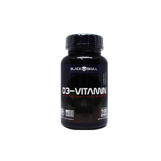 Vitamina D3 (100 Cápsulas) Black Skull