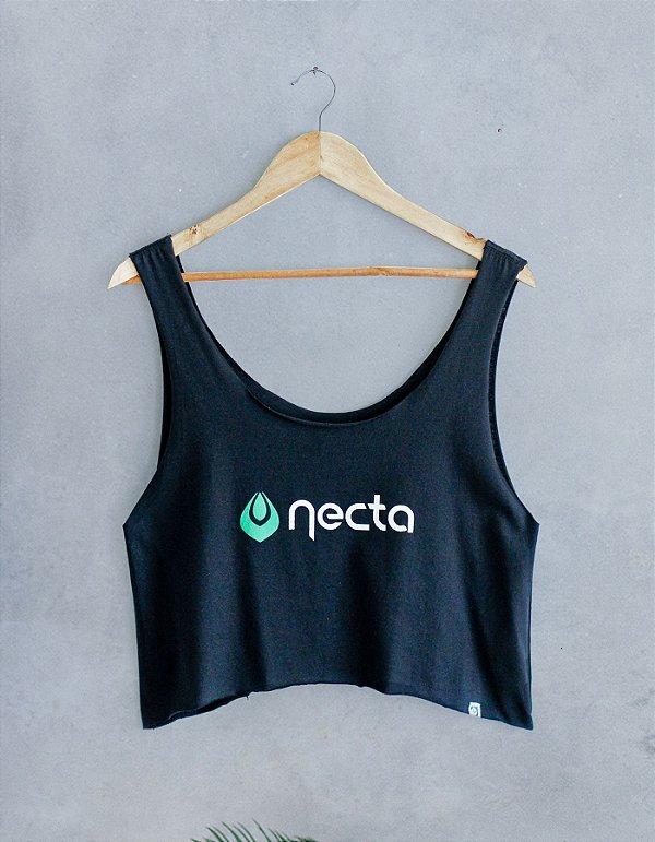 Cropped Verão Preta- Logo Necta