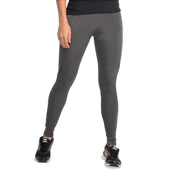 Legging longa Textura Metálica com recortes