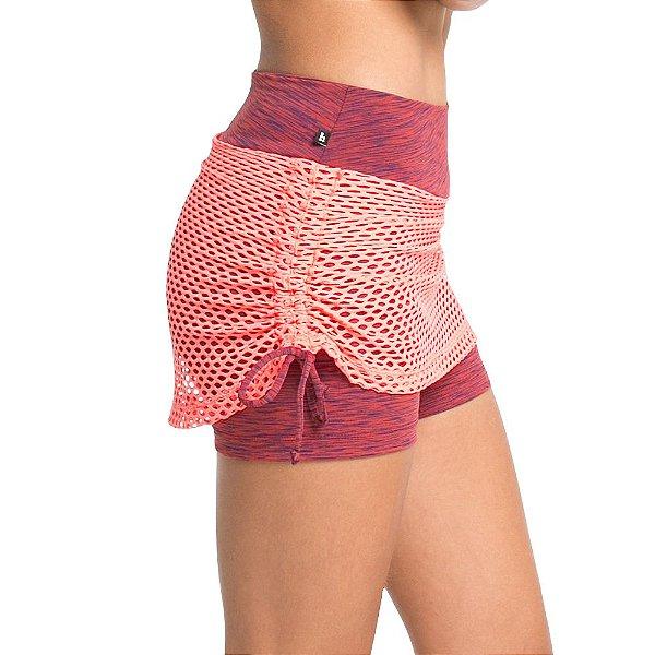 Short saia com lateral ajustável