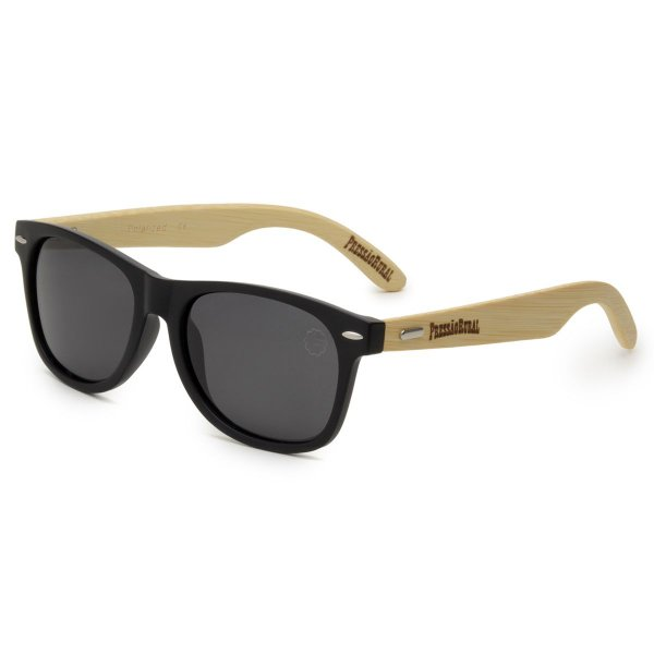 Óculos de Sol Pressão Rural Bambu Masculino Preto Fosco
