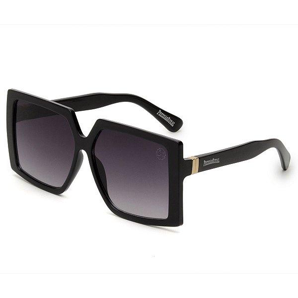 Óculos de Sol Pressão Rural Acetato Feminino Estilo Máscara Preto