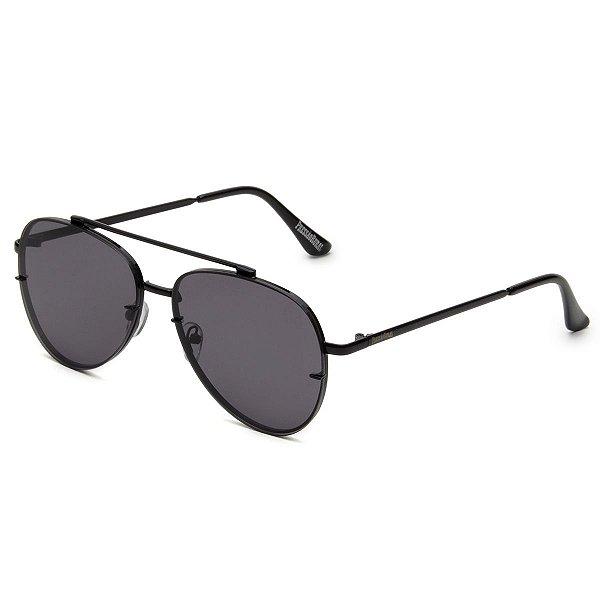 Óculos de Sol Pressão Rural Metal Aviador Feminino Preto
