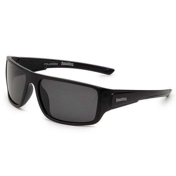 Óculos de Sol Pressão Rural Acetato Masculino Preto Fosco