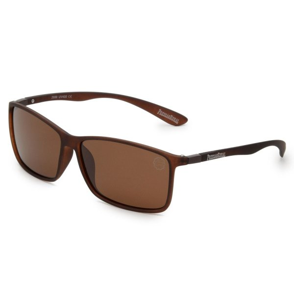 Óculos de Sol Pressão Rural Acetato Masculino Marrom Fosco