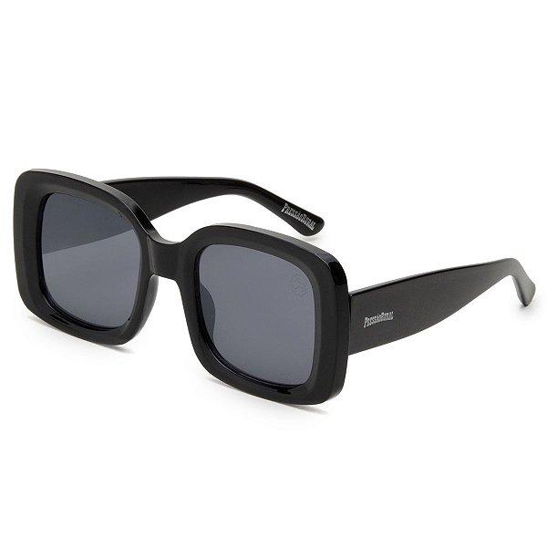 Óculos de Sol Pressão Rural Acetato Feminino Quadrado Preto