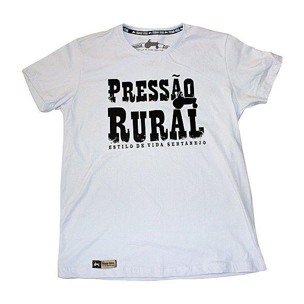 Camiseta Pressão Rural - Branca