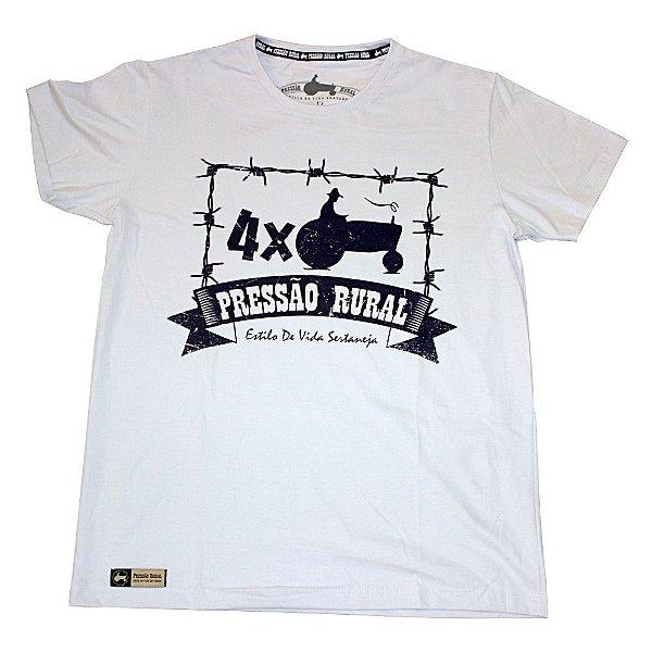 Camiseta Pressão Rural - 4 x Trator