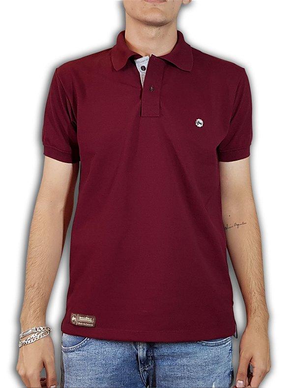 Camisa Polo Pressão Rural - Vinho Trator
