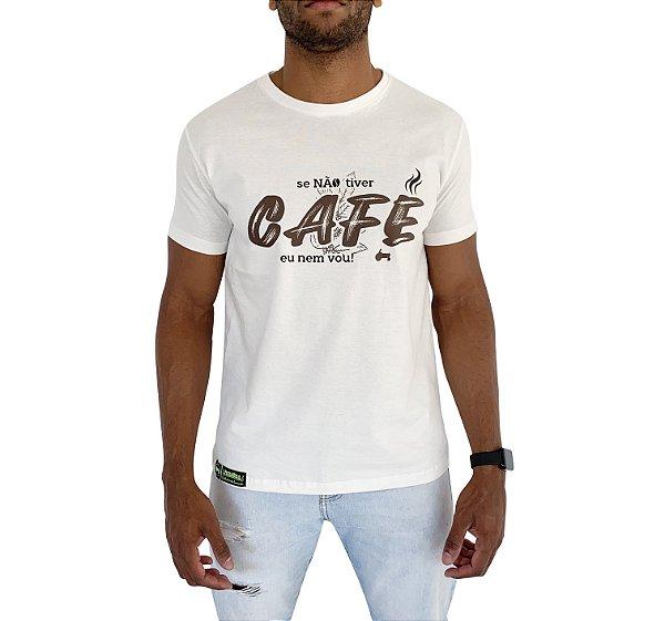 Camiseta Pressão Rural - Se não tiver Café eu nem vou Bege