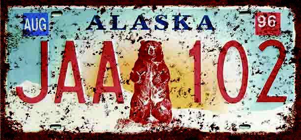 Placa Decorativa Alaska 15x30