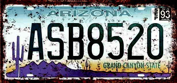 Placa Decorativa Arizona