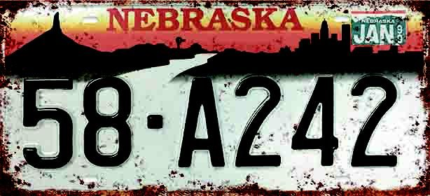 Placa Decorativa Nebraska 15x30