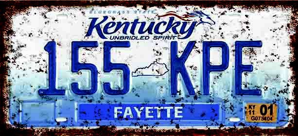 Placa Decorativa Kentucky 15x30