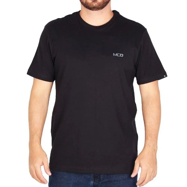 Camiseta Mcd Regular - Logo Preta