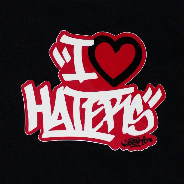 ADESIVO STICKERS DGK HATERS - RED