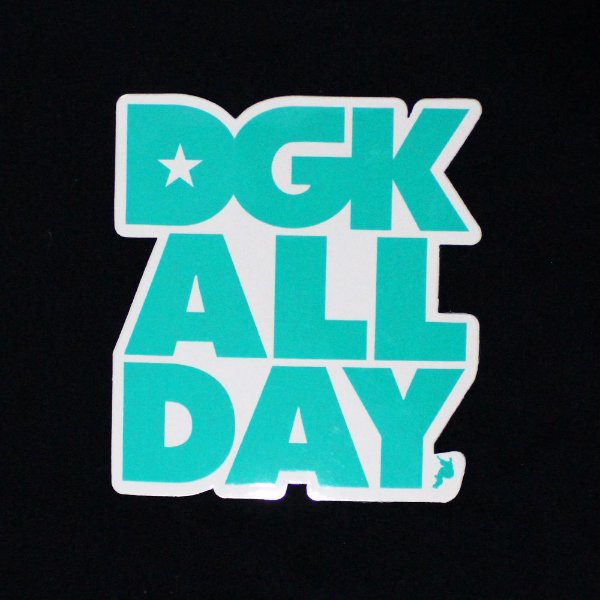 ADESIVO STICKERS DGK DGK ALL DAY SKATEBOARDING - GREEN
