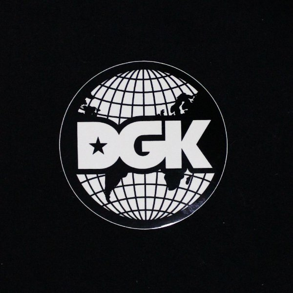 ADESIVO DGK STICKERS WORLD LOGO