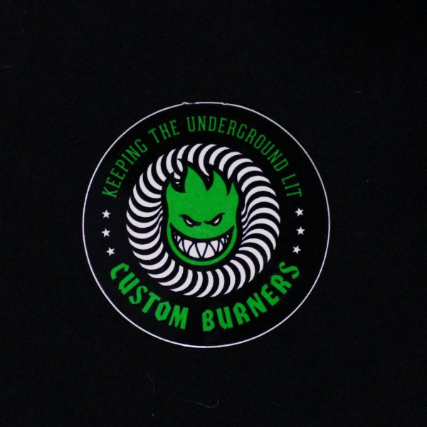 ADESIVO SPITFIRE CUSTOM BURNERS - GREEN
