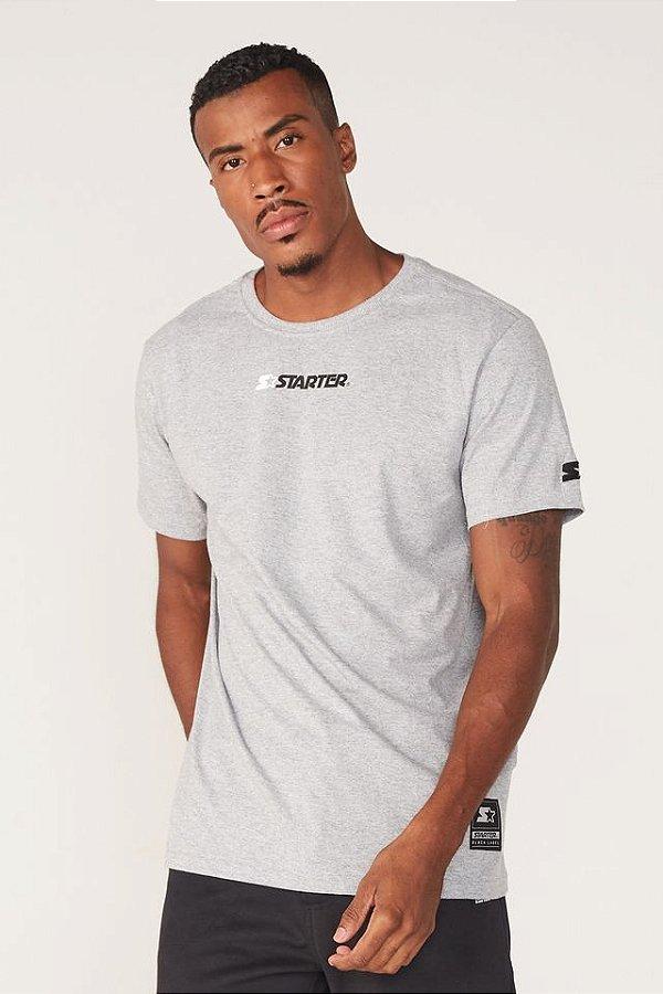 Camiseta Starter Basic Print - Cinza Mescla
