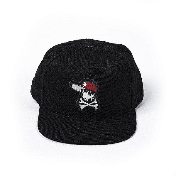 Bone Posso Caveirao Snapback - Black