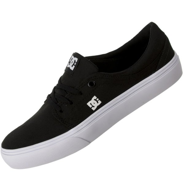 TÊNIS DC SHOES TRASE TX BLACK / WHITE / WHITE
