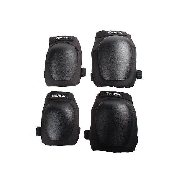 Kit Proteção Fomo Vertical Black - Juvenil / Adulto