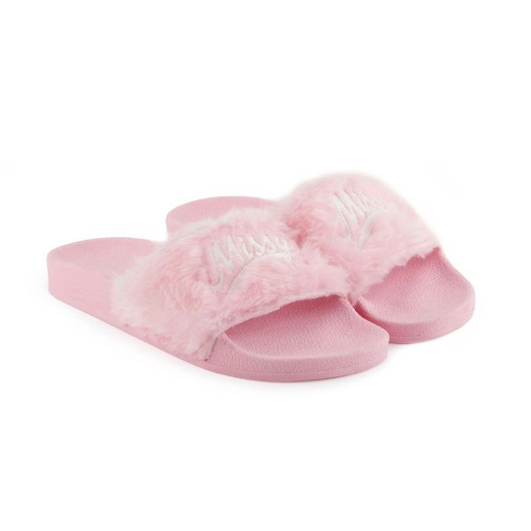 CHINELO MISSY SLIDE - ROSA FLUFFY