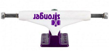 TRUCK STRONGER HOLLOW - WHITE purple BLACK 139MM