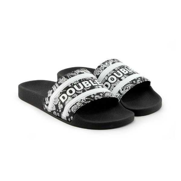 CHINELO DOUBLE-G SLIDE - PRETO PASLEY
